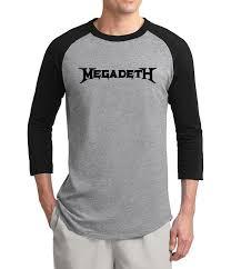 <b>New Arrival Metal</b> Band Megadeth 3/4 sleeve t shirt men 2017 ...