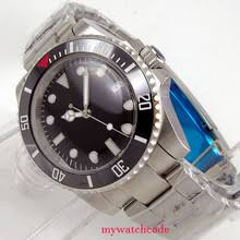 newest 43mm bliger green dial ceramic bezel ss case date window sapphire glass luminous marks automatic mechanical mens watch