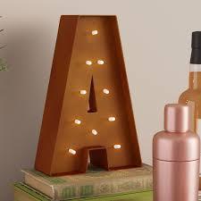 Trent Austin Design Altum <b>Rustic Vintage</b> Letter <b>LED</b> Marquee Sign ...