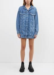 Women's Medium indigo <b>x Levis</b>® <b>Trucker</b> Dress by <b>Ganni</b> | Incu