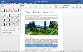 top back to school features in the new office for mac office 10 design tab