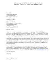 job fair thank you letter thank you letter  job fair thank you letter