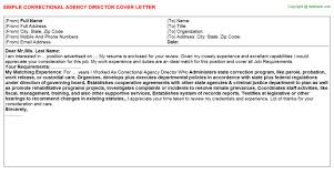 cover letters   correctional agency director