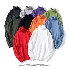 2019 Autumn <b>Winter Warm Turtleneck Sweater</b> Men Fashion Solid ...