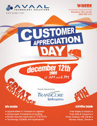 customer appreciation flyer template customer appreciation flyer