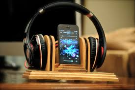 """The """"Sound Stand"""" docking station, <b>wooden combo</b> stand for ..."""