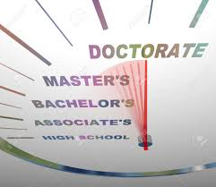 associates degree stock photos pictures royalty associates associates degree a speedometer shows the various levels of college degrees