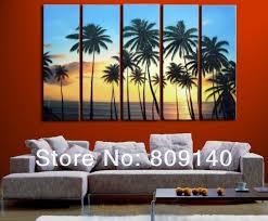 wall palm tree sea beach scenery oil painting canvas forever summer seascape high quality handmade home office wall art decor beach office decor