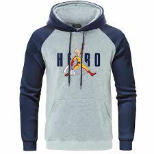 Autumn Fleece Raglan Hoodies <b>Men's</b> Pika Print Sweatshirts ...