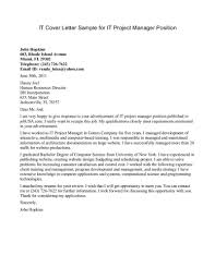 it cover letter sample experience resumes it cover letter sample