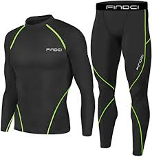 <b>Findci Men Compression</b> Tops Tight Trousers Basketball Training ...