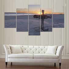 Home Decor Room Poster <b>HD Printed</b> Abstract Painting <b>5 Panel</b> A ...