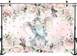 Mocsicka Elephant Baby Shower Backdrop 7x5ft ... - Amazon.com