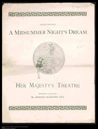 blog sprint for shakespeare theatre programme for a midsummer night s dream 1900 from