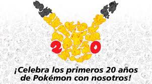 Resultado de imagen de pokemon 20 aniversario