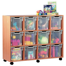 movable brown wooden toy storage childrens storage furniture playrooms