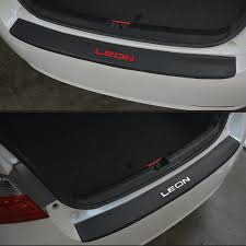For Seat Leon PU leather <b>Carbon fiber Styling After</b> guard Rear ...