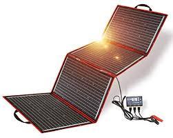 <b>DOKIO</b> 200 Watts 12 <b>Volts</b> Monocrystalline Foldable Solar Panel ...