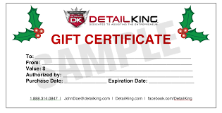 give your customer s a gift for any season auto detailing dk sample xmas gift certificicate