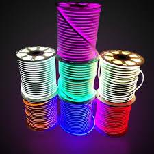 LED Light Neon Flex SMD5050 <b>DC24V 12V</b> Digital Rope Lighting ...