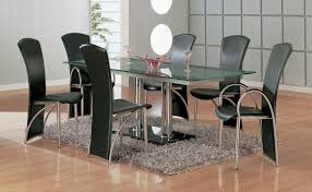 metal dining room chairs chrome:  large size of tables amp chairs appealing black leather modern dining room chairs chrome dining