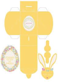 Шаблоны пасхальных коробочек - <b>Зайчик</b> | Коробочки, Подарки ...