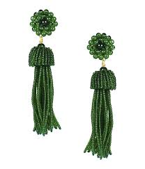 <b>Tassel Earrings</b> - Emerald - Lisi Lerch