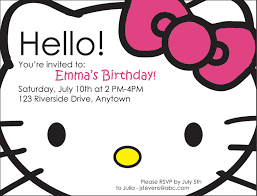 hello kitty photo birthday invitations com hello kitty photo birthday invitations