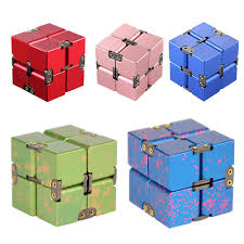 Infinity <b>Cube Aluminum</b> Fidget Toy for Adult Children Office Study ...