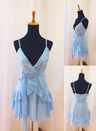 Beautiful Light Blue Chiffon Straps Mini <b>Dress</b>, <b>Women Summer</b> ...