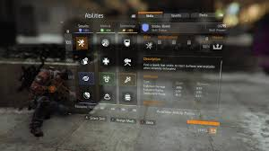 tom clancy the division skills list the division skills list