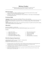 professional software and web developer resume sample featuring newbie web developer resume template example featuring technical skills and education and experience a part of