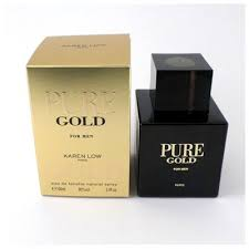<b>Pure Gold</b> by <b>Karen Low</b>, 3.4 oz Eau De Toilette Spray for Men - Buy ...