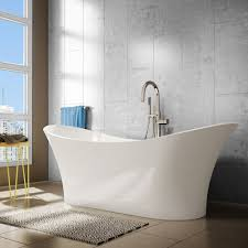 ae bath and shower evita  inch resin oval freestanding bathtub