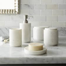 dog faces ceramic bathroom accessories shabby chic: graydon bath accessories crate barrel remodelista