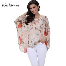 BHflutter 2019 <b>Women Tops</b> and <b>Blouses</b> Plus Size Floral Print ...
