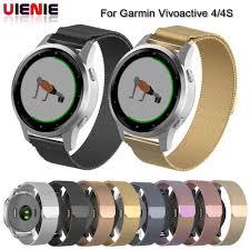 <b>18MM 20MM 22MM Milanese</b> Watch Band For Garmin Vivoactive 3 ...