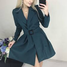 Sexy v Neck Autumn Long Sleeve <b>Women</b> Dress Ladies <b>Sashes</b> ...