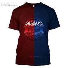 2019 <b>LBG New 3D Printing</b> Metal Bayern from Munich T shirt Men ...