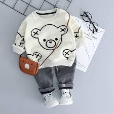 <b>Autumn</b>/<b>Winter</b> Baby Boy Outfit - Long Sleeve Velvet <b>T</b>-<b>shirt</b> + Pants ...