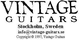 Vintage Guitars, SWEDEN - Instruments for sale.