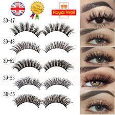 <b>5Pairs 3D</b> Natural False Eyelashes Long Thick Mixed Fake Eye ...