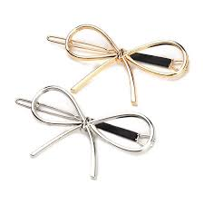 <b>Simple Stylish Hollowed</b>-Out Bow Frog Clipped Simplified Double ...