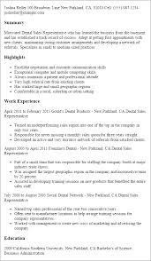 professional dental sales representative templates to showcase    resume templates  dental sales representative