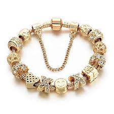 Charm Bracelets for Women Gold Plated Snake Chain ... - Amazon.com