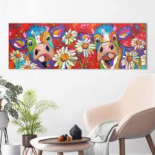 <b>HDARTISAN Vrolijk Schilderij Wall</b> Art Canvas Painting Animal ...