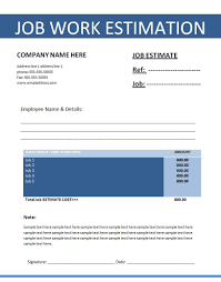 estimates templates invoice template receipt template resume template word cover pages 7 templates for itinerary cost estimate template word job estimate template sample of work regarding templates