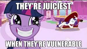 Vulnerable Rarity memes   quickmeme via Relatably.com