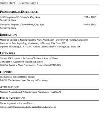 pediatric nurse resume sample  free resume template  professional    professional pediatric nurse resume sample page