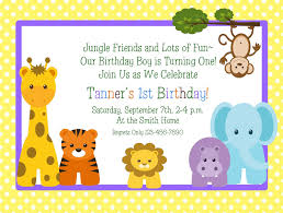 printable 1st birthday party invitations drevio invitations animal printable 1st birthday party invitations